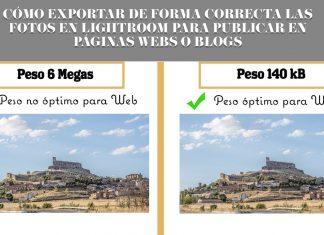 EXPORTAR FOTOS EN LIGHTROOM PARA WEB