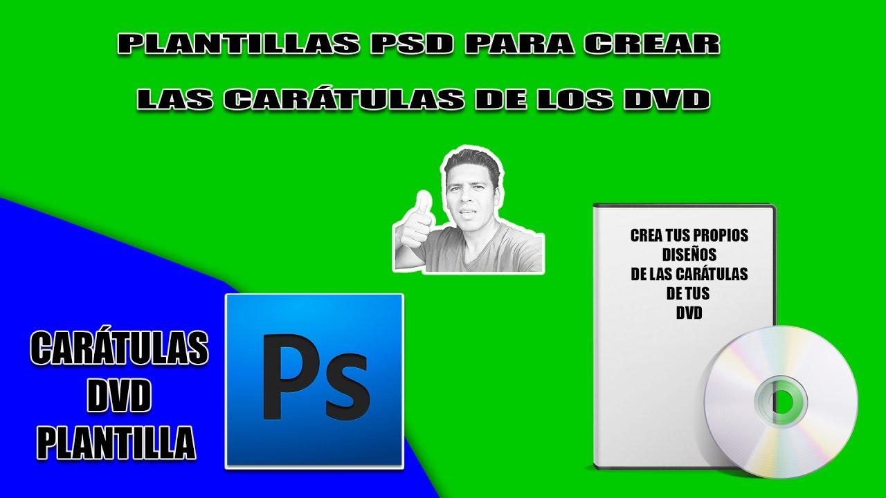 Plantilla Photoshop cover DVD