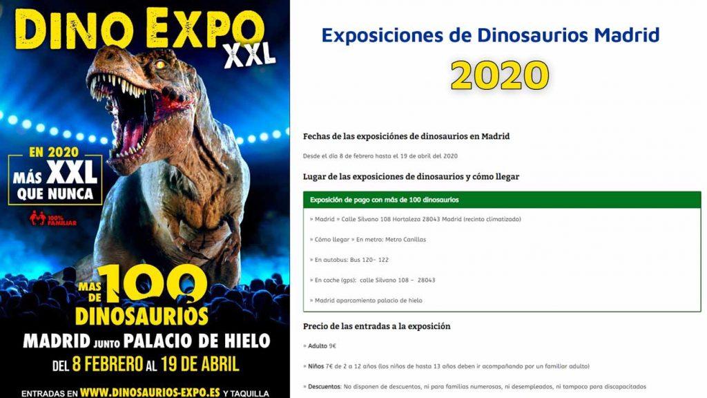 Dónde ver exposiciones de dinosaurios en Madrid