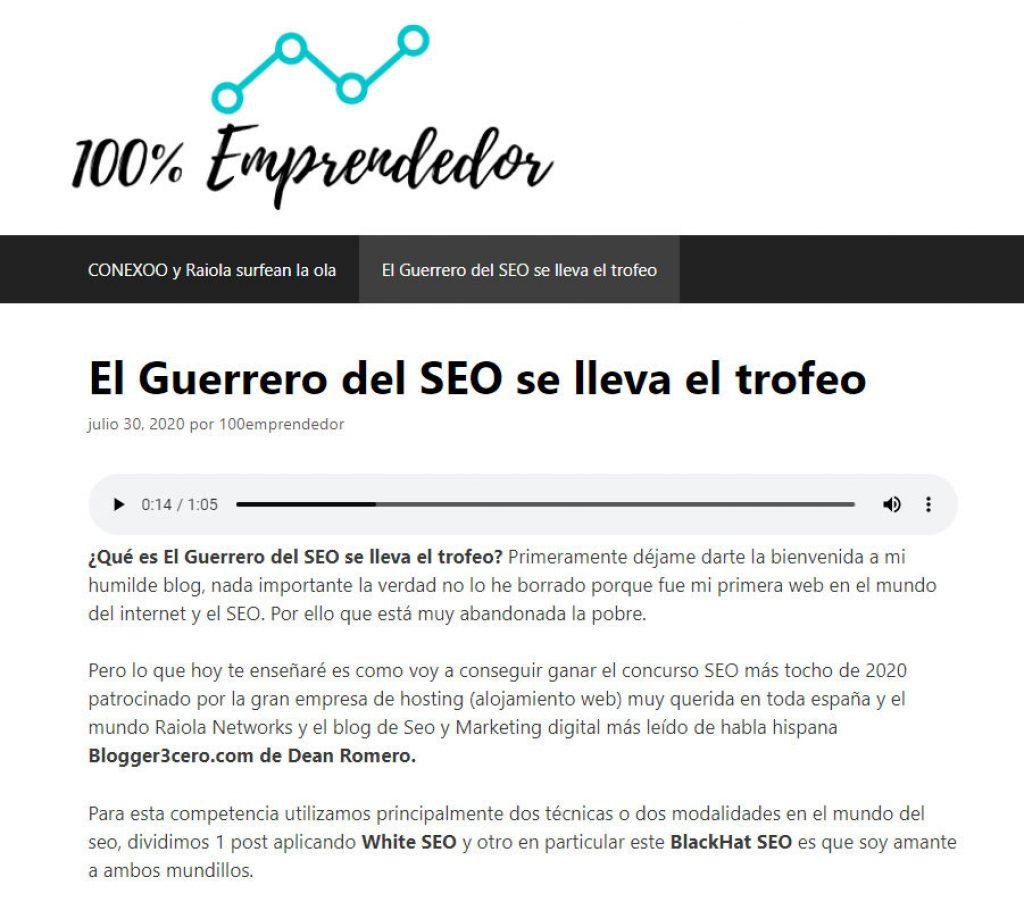 Guerrero seo 100emprendedor